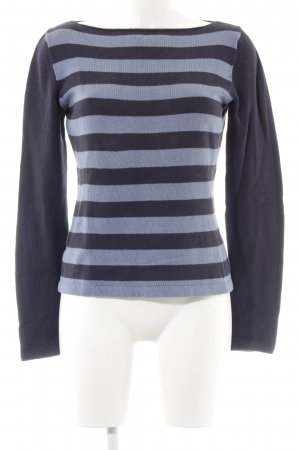 Ann Taylor Knitted Jumper dark blue-cornflower blue striped pattern