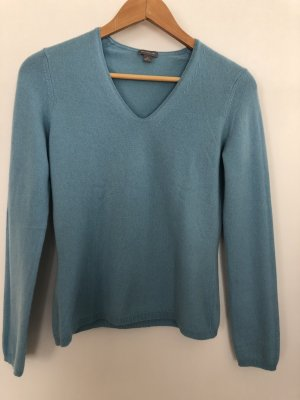 Ann Taylor V-Neck Sweater cornflower blue-turquoise