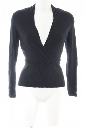 Ann Taylor Wickelshirt schwarz Business-Look