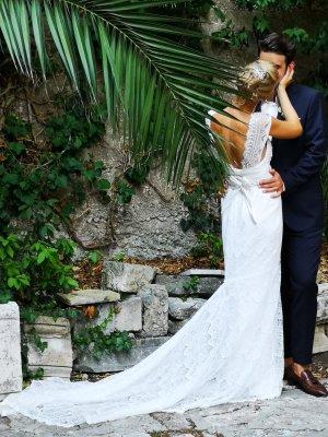 Campbell Wedding Dress multicolored silk