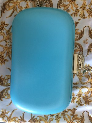 Anna Dello Russo for H&M Clutch gold-colored-turquoise