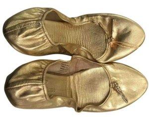 Anna Dello Russo for H&M Foldable Ballet Flats gold-colored