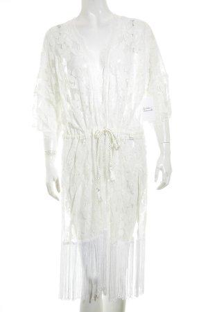 anna & ella Cardigan blanc motif floral style hippie