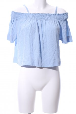 anna & ella Short Sleeved Blouse azure casual look