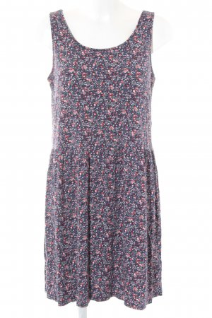 anna & ella Midi Dress dark blue-red floral pattern casual look