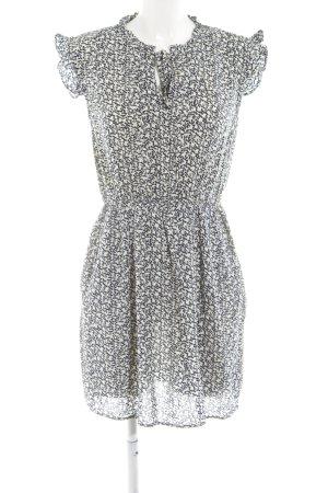 anna & ella Mini-jurk wit-zwart volledige print elegant