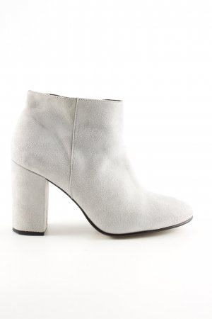 anna & ella Zipper Booties light grey business style