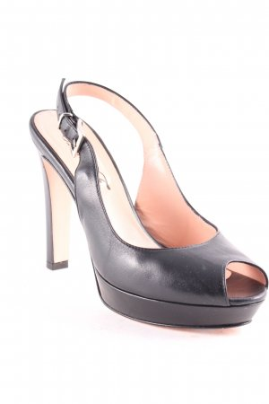 Anna F. Peep Toe Pumps zwart elegant