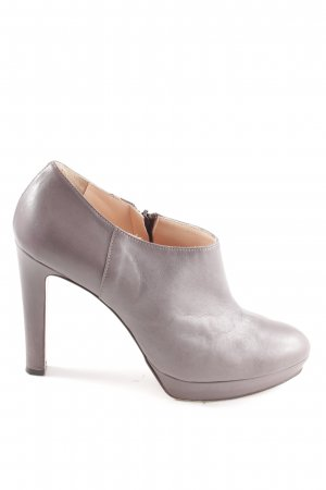 Anna F. Zipper Booties taupe-grey brown business style