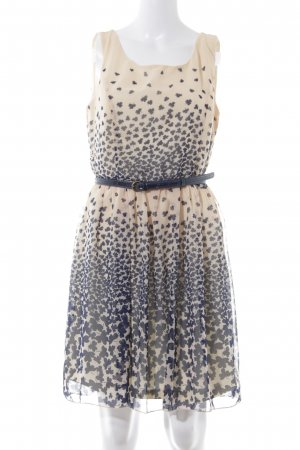 Anna Field A-Linien Kleid apricot-dunkelblau Blumenmuster Elegant