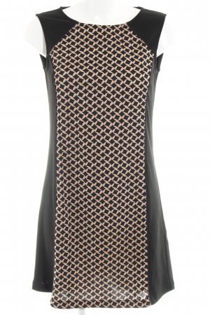Anna Field A Line Dress black-light brown abstract pattern business style