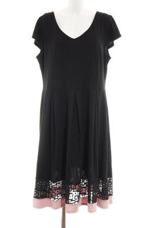 Anna Field A-lijn jurk zwart-lichtroze elegant