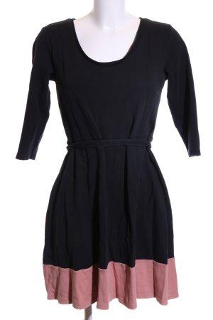 Anna Field A-lijn jurk zwart-roze casual uitstraling