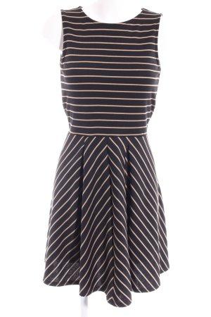 Anna Field A-Linien Kleid schwarz Streifenmuster Casual-Look