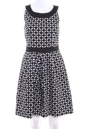 Anna Field A-Linien Kleid schwarz-weiß Allover-Druck Elegant