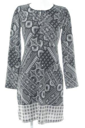 Anna Field A-Linien Kleid schwarz-weiß Mustermix Casual-Look