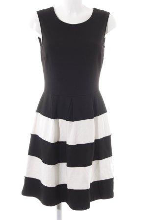 Anna Field A-lijn jurk zwart-wit gestreept patroon zakelijke stijl