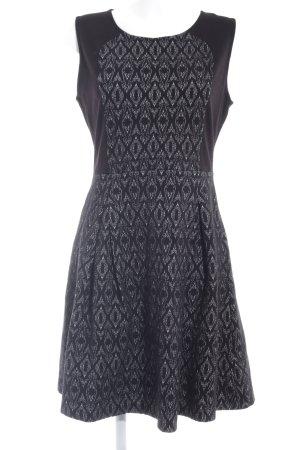 Anna Field A-Linien Kleid schwarz-wollweiß abstraktes Muster Business-Look
