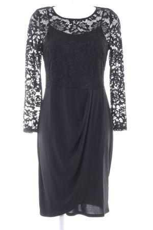Anna Field Abendkleid schwarz florales Muster Elegant