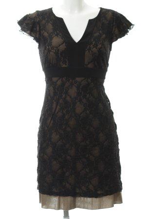 Anna Field Abendkleid schwarz-graubraun klassischer Stil