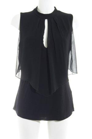 Anna Field ärmellose Bluse schwarz Elegant