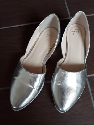 Anna Field Patent Leather Ballerinas silver-colored imitation leather