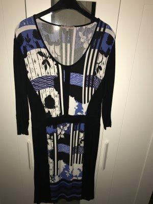 Anna Field blau buntes Kleid Größe 44