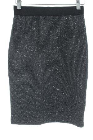 Anna Field Falda de tubo negro brillante