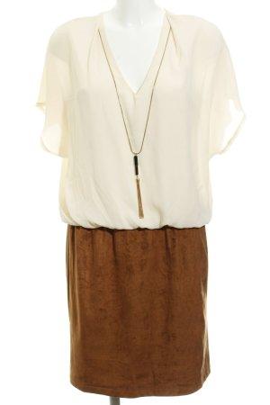 Anna Field Blusenkleid creme-braun Elegant