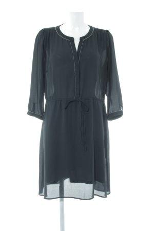 Anna Field Blusenkleid schwarz-silberfarben schlichter Stil