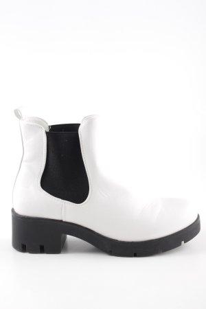 Anna Field Chelsea Boots weiß-schwarz Urban-Look