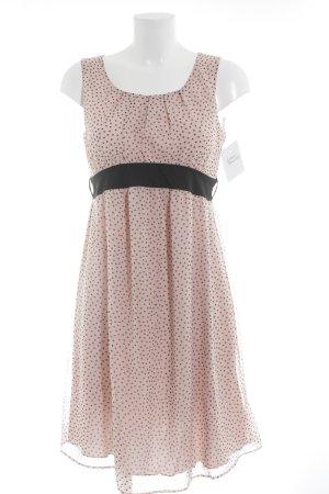 Anna Field Chiffonkleid rosé-schwarz Punktemuster Romantik-Look