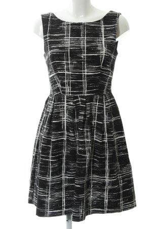 Anna Field Vestido de cóctel negro-blanco estampado abstracto estilo fiesta