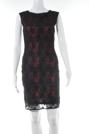 Anna Field Etuikleid schwarz-dunkelrot Elegant