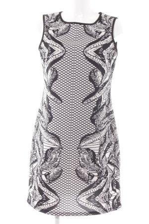 Anna Field Etuikleid schwarz-weiß abstraktes Muster Elegant