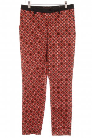 Anna Field Low-Rise Trousers black-bright red abstract pattern casual look