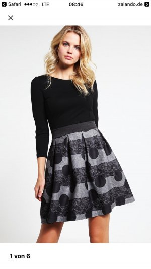 ANNA FIELD Jerseykleid black/grey