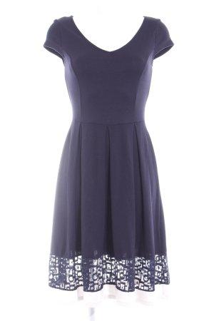 Anna Field Jerseykleid dunkelblau-weiß Casual-Look