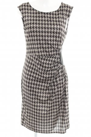 Anna Field Jersey Dress black-camel houndstooth pattern casual look