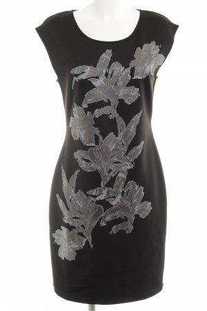 Anna Field Jerseykleid schwarz-silberfarben Casual-Look