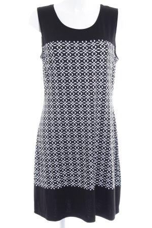 Anna Field Jerseykleid schwarz-weiß abstraktes Muster Casual-Look