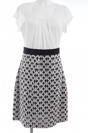 Anna Field Jerseykleid weiß-schwarz grafisches Muster Casual-Look