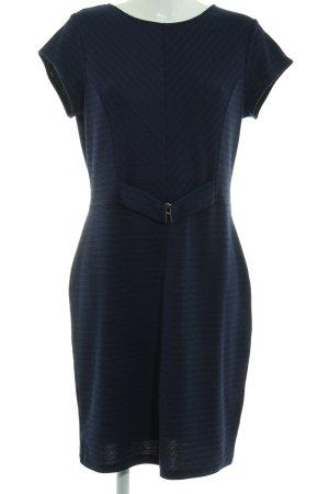 Anna Field Kurzarmkleid dunkelblau-schwarz meliert Elegant