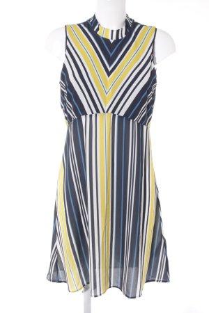 Anna Field Kurzarmkleid gelb-dunkelblau Streifenmuster Casual-Look