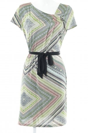 Anna Field Shortsleeve Dress sage green-lime-green floral pattern casual look