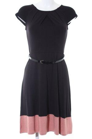 Anna Field Kurzarmkleid schwarz-apricot schlichter Stil