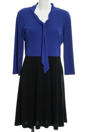 Anna Field Langarmkleid blau-schwarz Colourblocking klassischer Stil