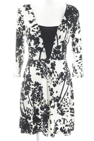 Anna Field Langarmkleid hellbeige-schwarz florales Muster Casual-Look