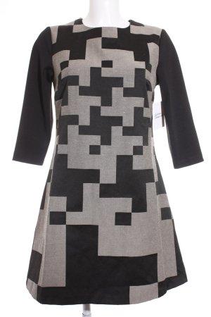 Anna Field Langarmkleid schwarz-beige grafisches Muster Casual-Look