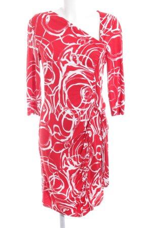 Anna Field Langarmkleid wollweiß-rot abstraktes Muster Casual-Look